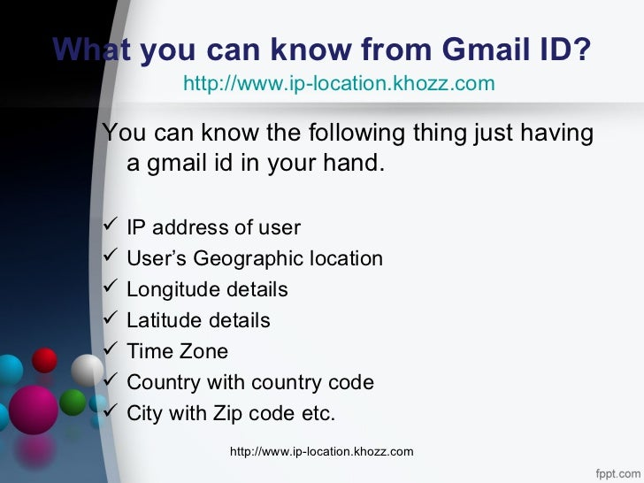 how to find the location of an email