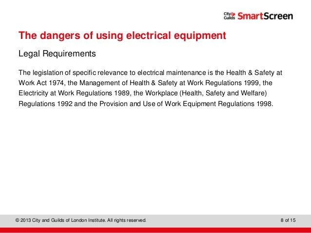 Know how to work with electrical equipment in the workplace 4
