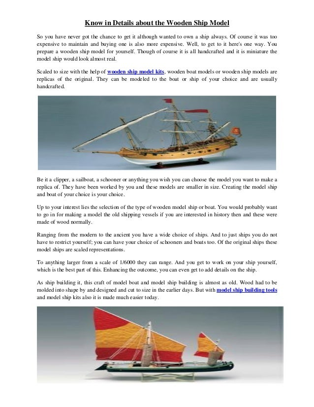 Know In Details About The Wooden Ship Model