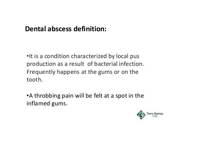 dental abscess meaning in urdu