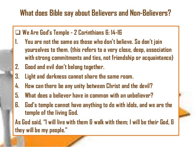 Does God Say About Dating Non Believers What