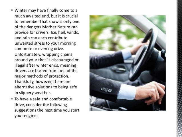 Knowing how to drive in poor weather Slide 2