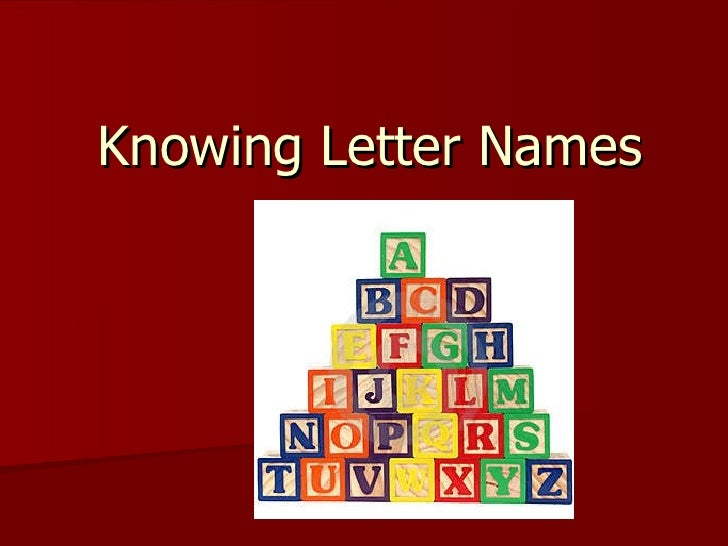 Knowing letter names
