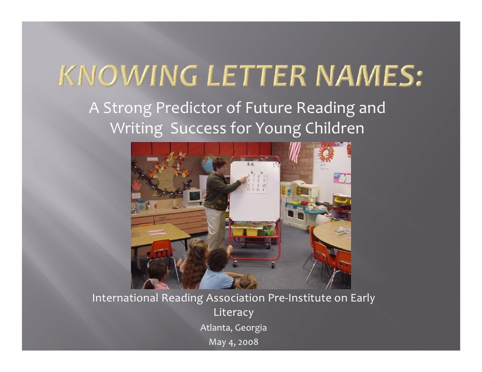 g                           g A Strong Predictor of Future Reading and     Writing  Success for Young Children     Interna...