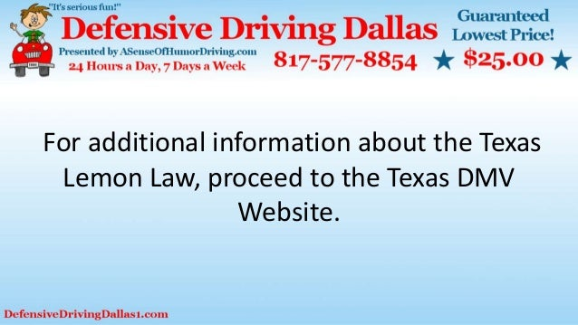 Texas Lemon Law >> Knowing The Basic Facts Regarding The Lemon Law