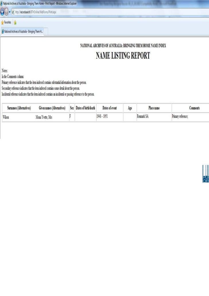 bringing them home report 1997 pdf