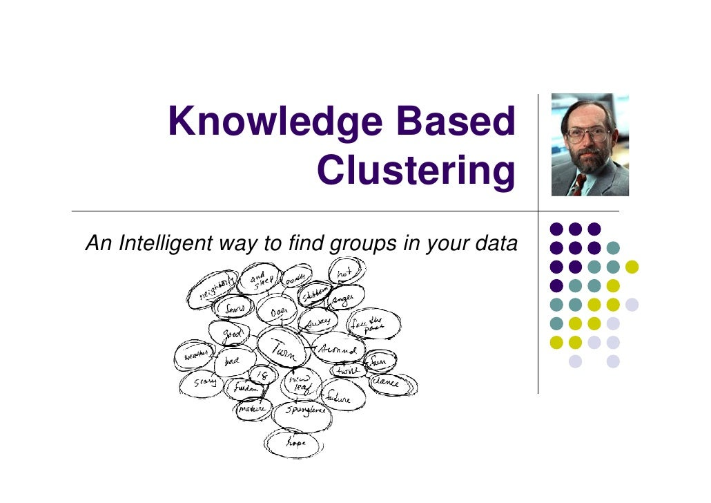 Knowledge Based               Clustering An Intelligent way to find groups in your data