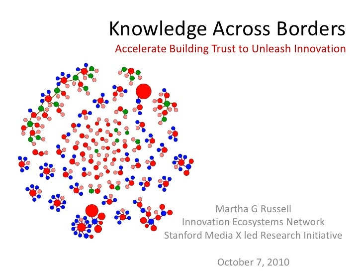 Knowledge Across Borders Accelerate Building Trust to Unleash Innovation                         Martha G Russell         ...