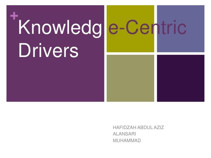 +Knowledg e-CentricDrivers          HAFIDZAH ABDUL AZIZ          ALANSARI          MUHAMMAD