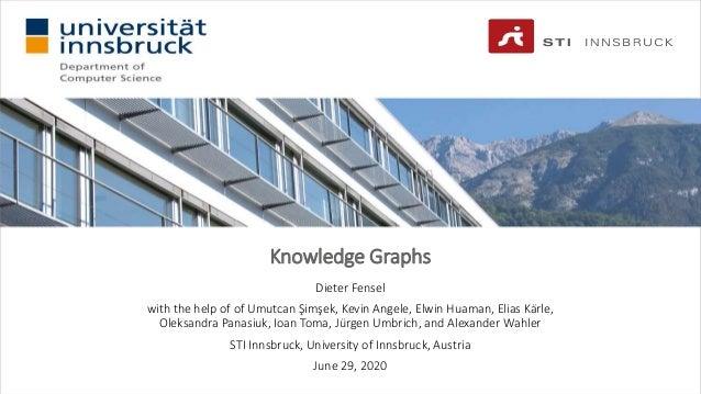 Knowledge Graphs Dieter Fensel with the help of of Umutcan Şimşek, Kevin Angele, Elwin Huaman, Elias Kärle, Oleksandra Pan...