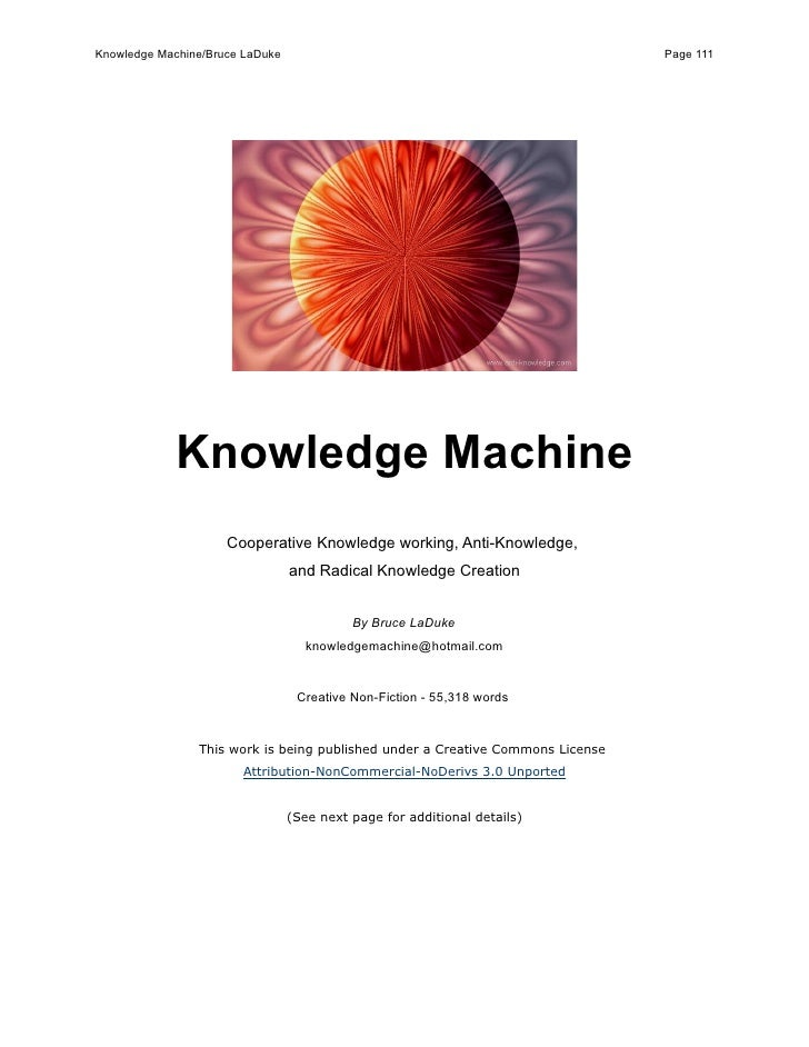 Knowledge Machine/Bruce LaDuke                                                  Page 111                  Knowledge Machin...