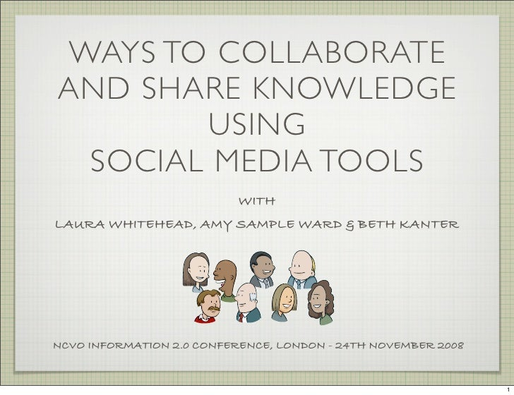 WAYS TO COLLABORATE AND SHARE KNOWLEDGE        USING  SOCIAL MEDIA TOOLS                            WITH LAURA WHITEHEAD, ...