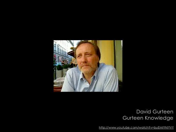 David Gurteen              Gurteen Knowledge http://www.youtube.com/watch?v=buEMIYNIYVY
