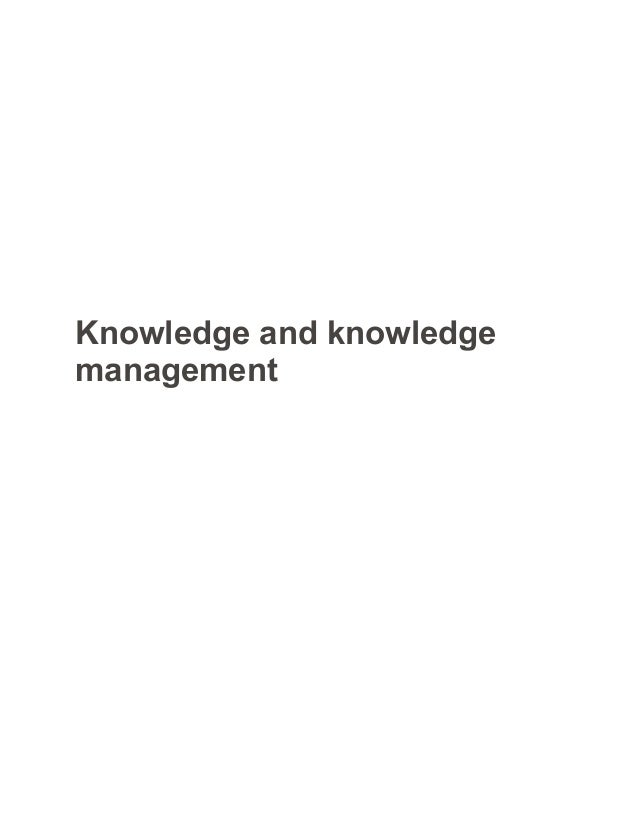 knowledge and knowledge management sample paper essay