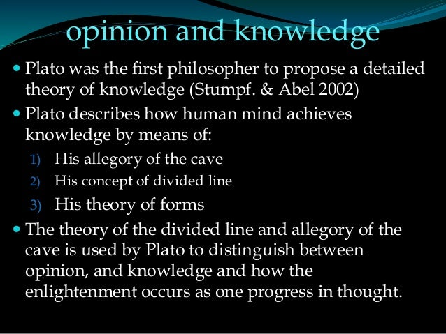 a summary of platos theory of human knowledge