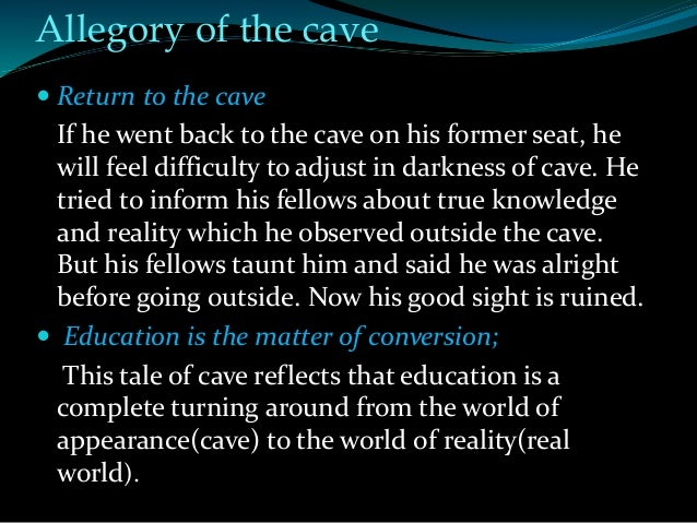 allegory of the cave sparknotes