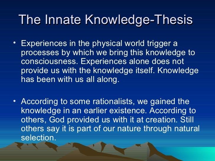 rationalism vs empiricism essay