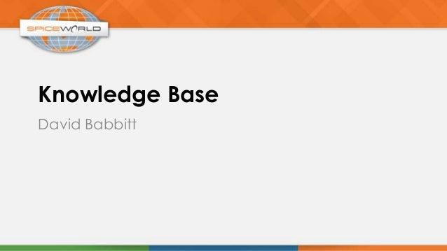 Knowledge BaseDavid Babbitt