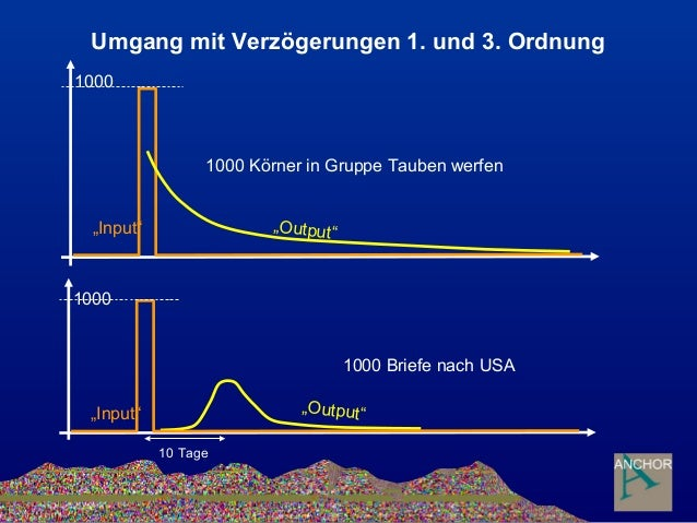 """Umgang mit Verzögerungen 1. und 3. Ordnung 1000 """"Output""""""""Input"""" """"Output"""" 1000 Körner in Gruppe Tauben werfen 1000 """"Input"""" ..."""