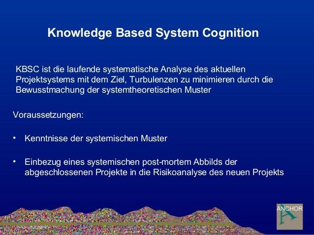 Knowledge Based System Cognition Voraussetzungen: • Kenntnisse der systemischen Muster • Einbezug eines systemischen post-...