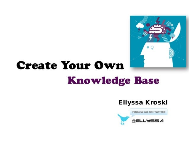 how to create an internal knowledge base