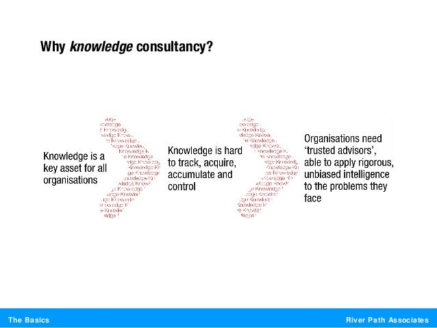 River Path AssociatesThe BasicsWhy knowledge consultancy?
