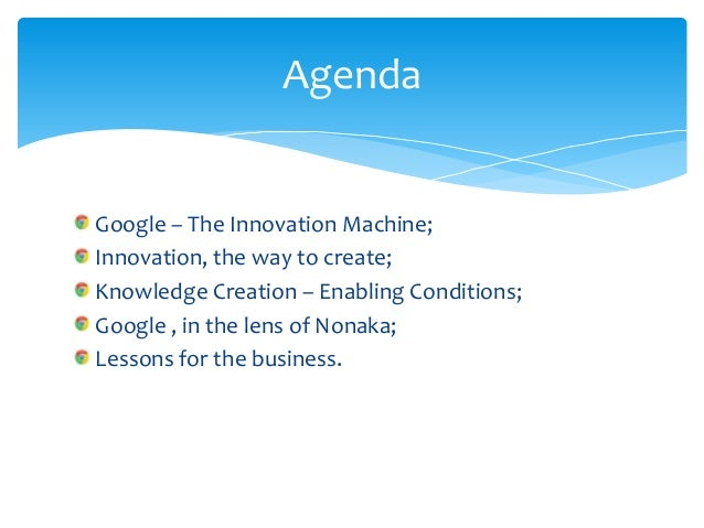 Knowledge creation and google Slide 2