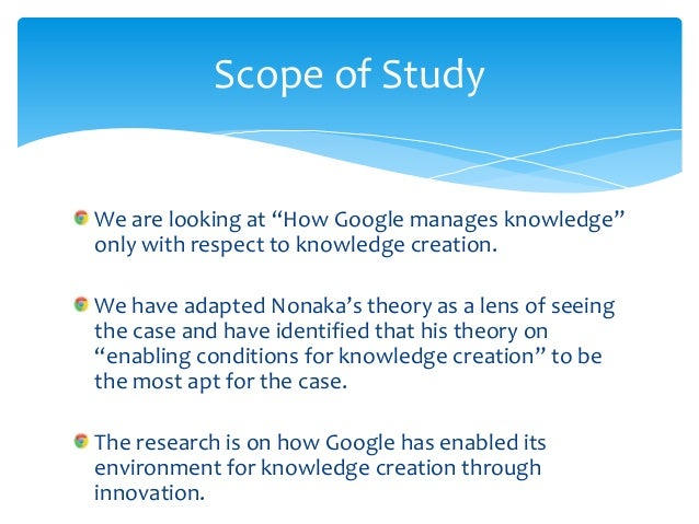 Knowledge creation and google Slide 3