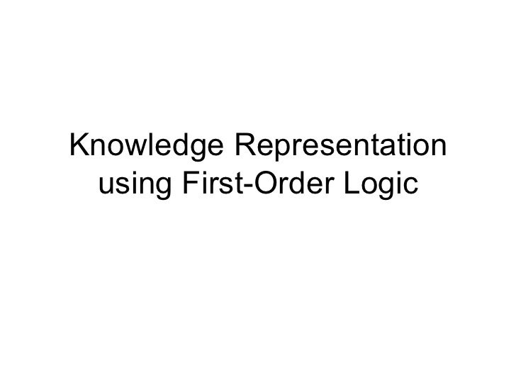 Knowledge Representation using First-Order Logic