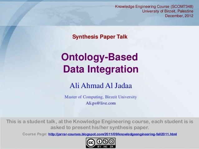 Knowledge Engineering Course (SCOM7348)                                                                         University...