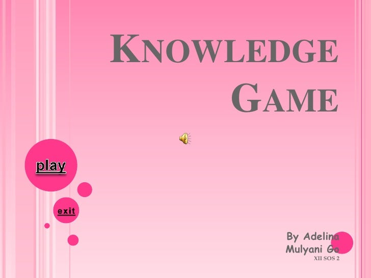 KNOWLEDGE     GAME         By Adelina       Mulyani Go            XII SOS 2