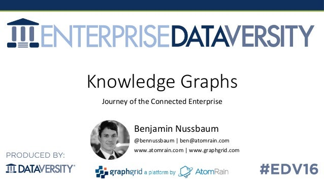 Knowledge  Graphs Journey	   of	   the	   Connected	   Enterprise	    Benjamin	   Nussbaum	    @bennussbaum	   |	   ben@at...