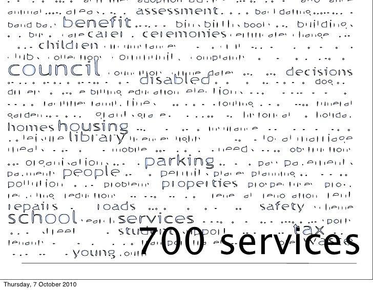 700 services Thursday, 7 October 2010