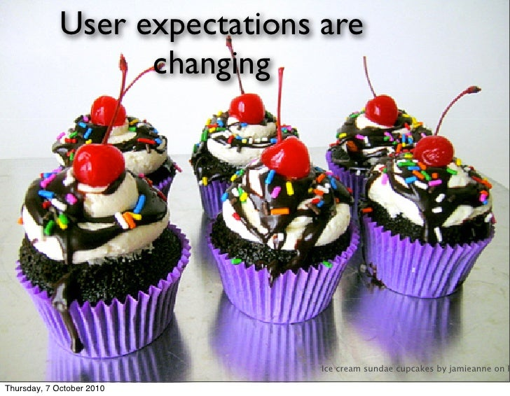 User expectations are                    changing                                    Ice cream sundae cupcakes by jamieann...