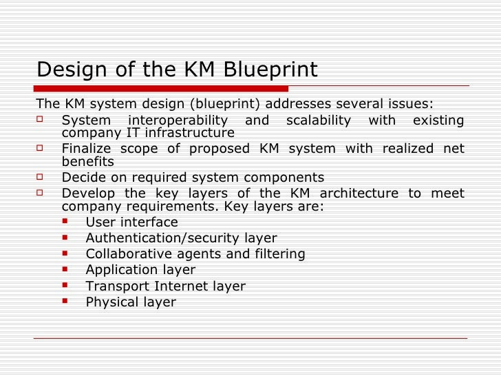 Knowledge management design of the km blueprint malvernweather Gallery