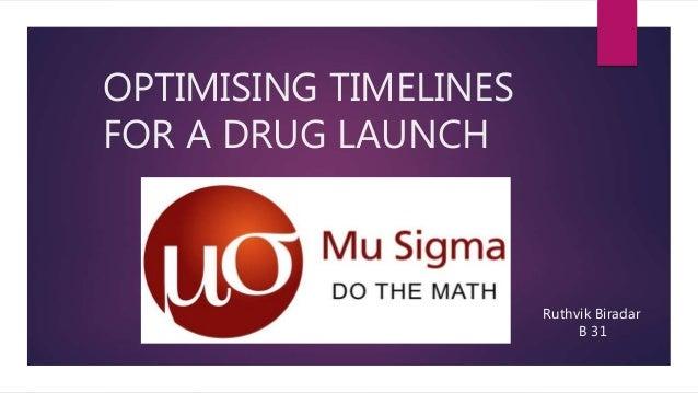 OPTIMISING TIMELINES FOR A DRUG LAUNCH Ruthvik Biradar B 31