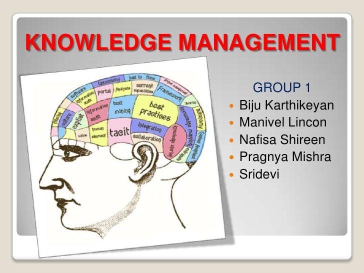 KNOWLEDGE MANAGEMENT                   GROUP 1               Biju Karthikeyan               Manivel Lincon             ...