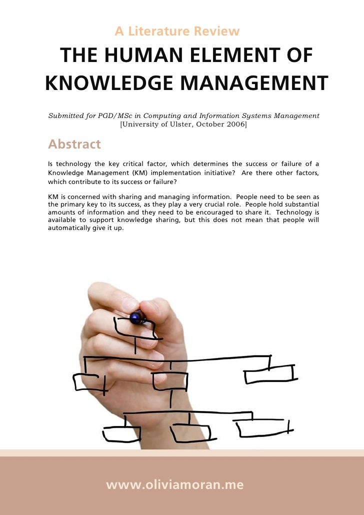 how to write a literature review for management of business