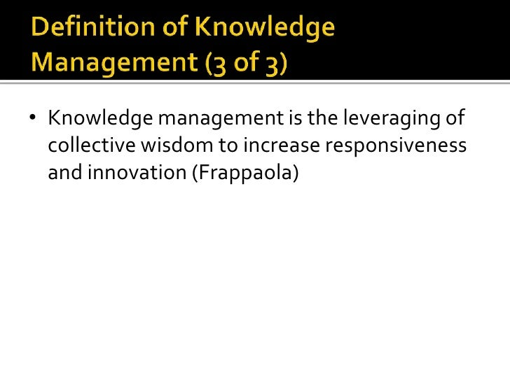 Knowledge Management And The Technical Writer