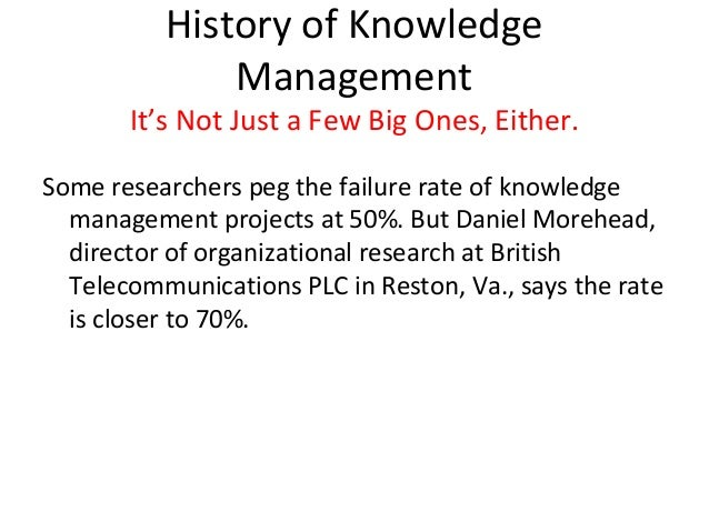 Knowledge Management It S Not A Good Idea If It Can T Be
