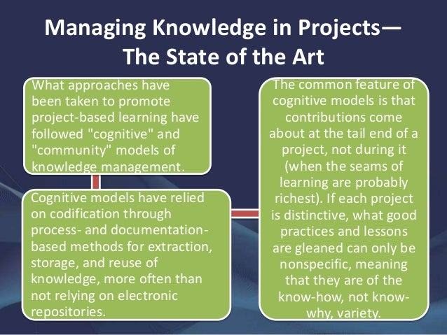 project based organizations Knowledge management in project-based organisations: the success criteria and best practises master of science thesis in the master's programme international project.