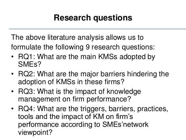 understanding knowledge management a literature review The knowledge management spectrum – understanding the km landscape derek binney introduction the broad range of knowledge management.