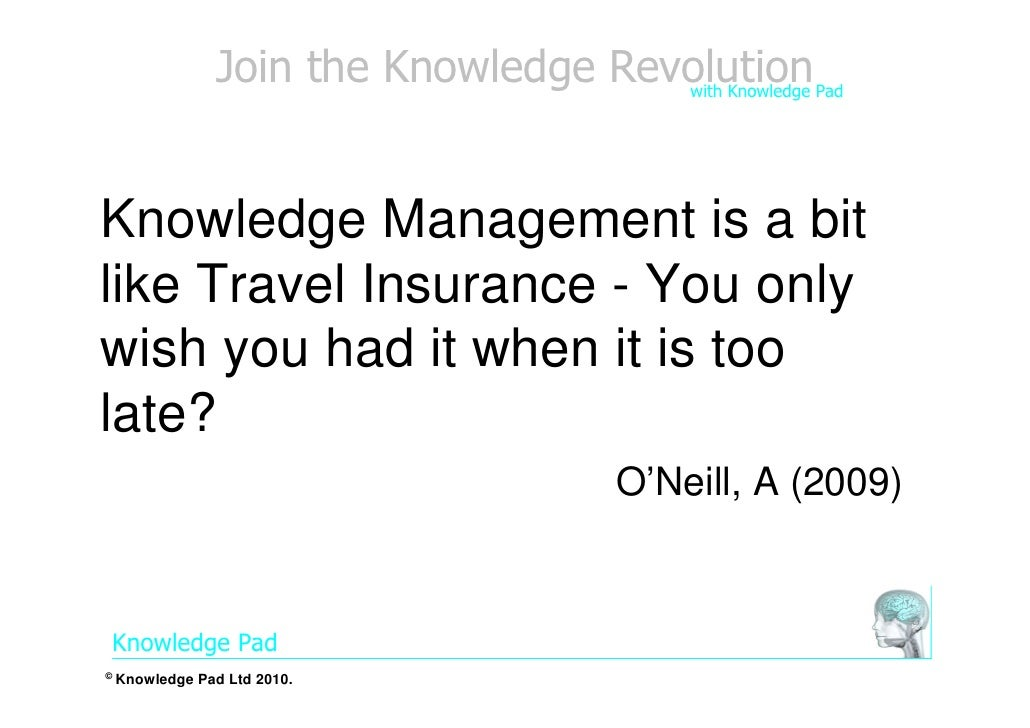 Quote Insurance Mesmerizing Knowledge Management Is Like Travel Insurance Quote April 48 48