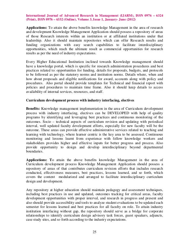 knowledge management in education Presents a framework for facilitating the development of graduate programs in knowledge management paper presented at kss 2004, the 5th international symposiu.