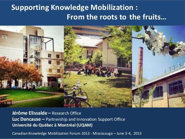 Jérôme Elissalde – Research OfficeLuc Dancause – Partnership and Innovation Support OfficeUniversité du Québec à Montréal ...