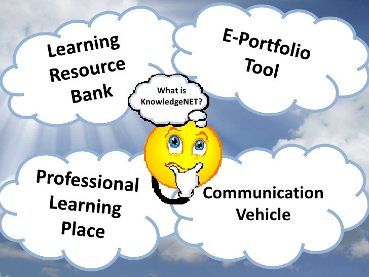 E-Portfolio<br />Tool<br />Learning Resource Bank<br />What is KnowledgeNET?<br />Communication Vehicle<br />Professional ...