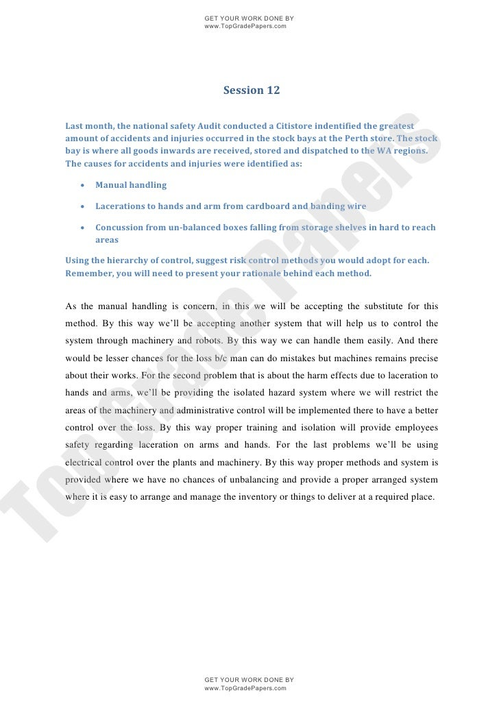 thesis on occupational safety and health management National institute for occupational safety and health psychological aspects of occupational safety and health, including stress at work management style.