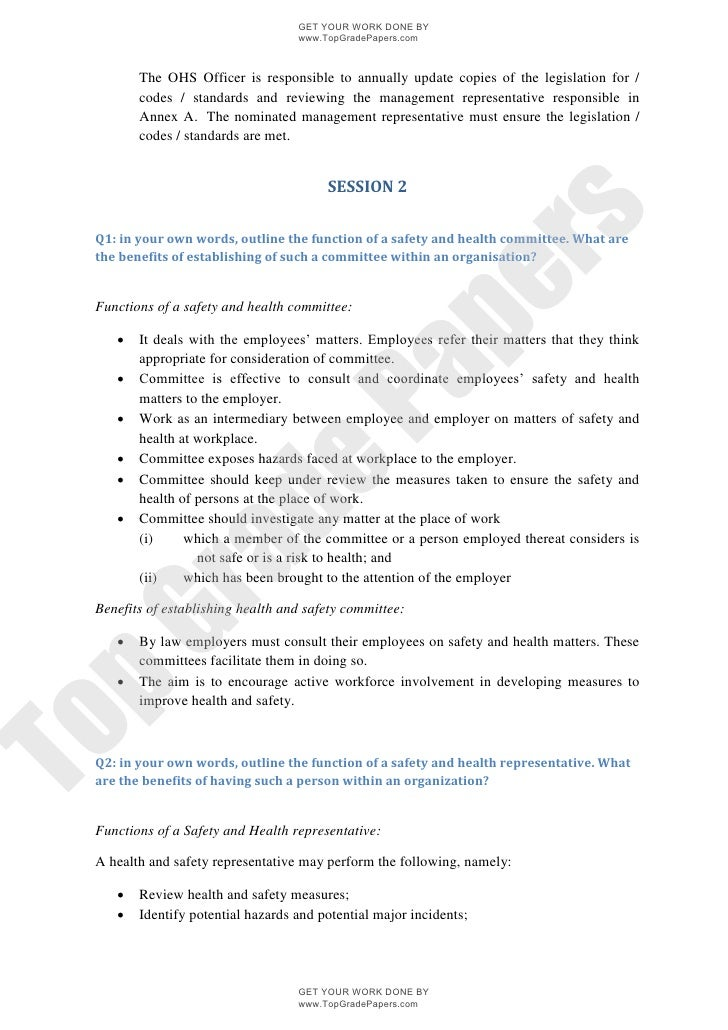 knowledge of occupational safety and health in the workplace academ  topgradepapers com 4