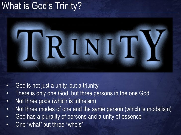 Knowledge of the Holy - God as a Trinity