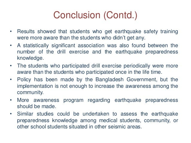 conclusion of disaster management wikipedia